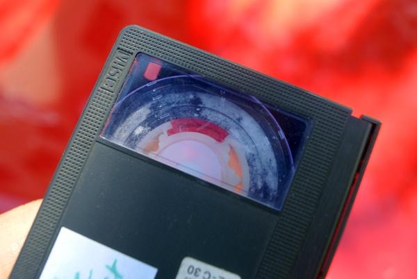 Videoband mit Schimmelbefall